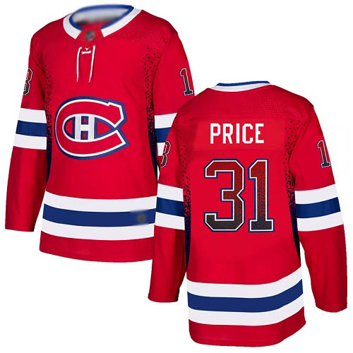 Men's Carey Price Authentic Red Jersey: Hockey #31 Montreal Canadiens Drift Fashion