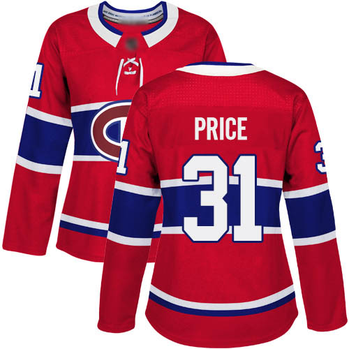 Women's Carey Price Premier Red Home Jersey: Hockey #31 Montreal Canadiens