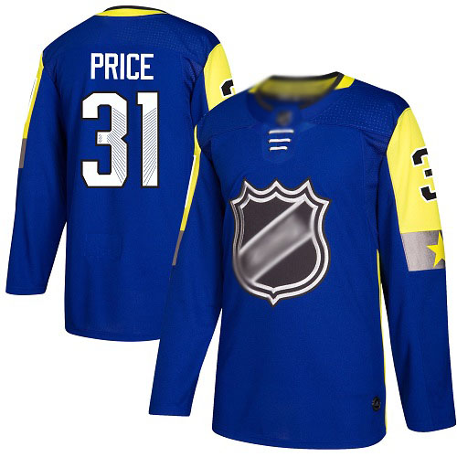 Men's Carey Price Authentic Royal Blue Jersey: Hockey #31 Montreal Canadiens 2018 All-Star Atlantic Division