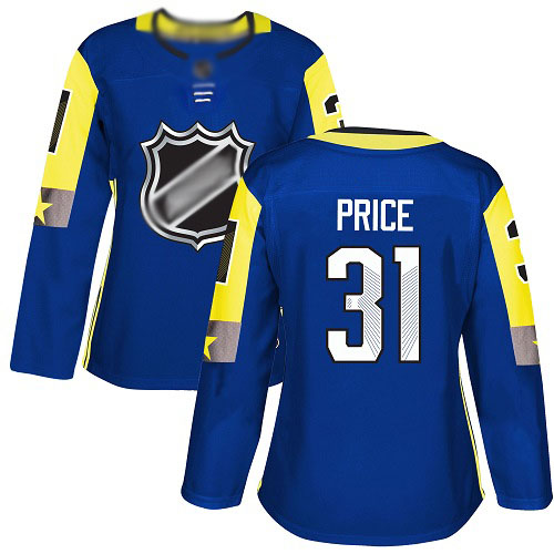Women's Carey Price Authentic Royal Blue Jersey: Hockey #31 Montreal Canadiens 2018 All-Star Atlantic Division