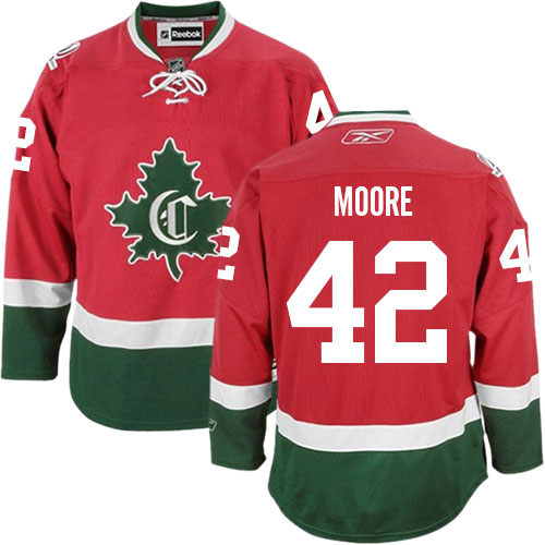Reebok Youth Dominic Moore Authentic Red Third Jersey: NHL #42 Montreal Canadiens New CD