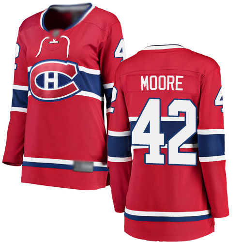 Fanatics Branded Women's Dominic Moore Breakaway Red Home Jersey: NHL #42 Montreal Canadiens