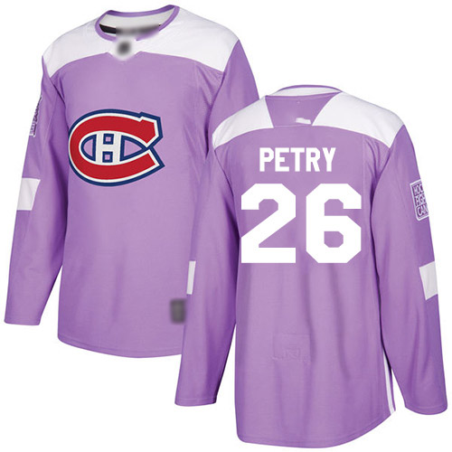Men's Jeff Petry Authentic Purple Jersey: Hockey #26 Montreal Canadiens Fights Cancer Practice