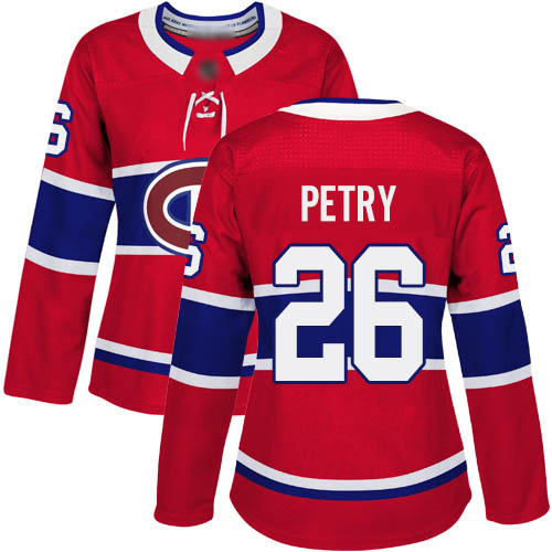 Women's Jeff Petry Authentic Red Home Jersey: Hockey #26 Montreal Canadiens
