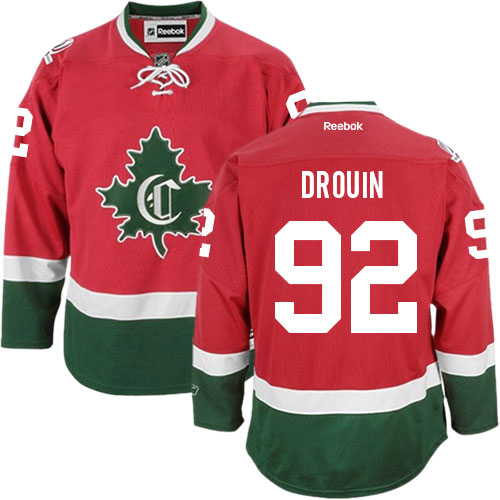 Reebok Men's Jonathan Drouin Authentic Red Third Jersey: NHL #92 Montreal Canadiens New CD