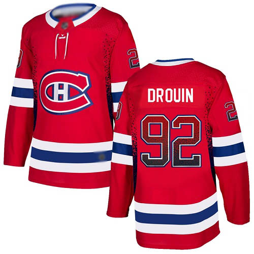 Adidas Men's Jonathan Drouin Authentic Red Jersey: NHL #92 Montreal Canadiens Drift Fashion
