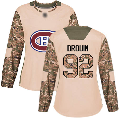 Adidas Women's Jonathan Drouin Authentic Camo Jersey: NHL #92 Montreal Canadiens Veterans Day Practice