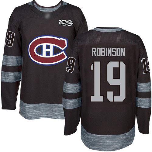 Adidas Men's Larry Robinson Authentic Black Jersey: NHL #19 Montreal Canadiens 1917-2017 100th Anniversary