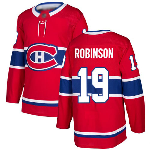 Adidas Youth Larry Robinson Authentic Red Home Jersey: NHL #19 Montreal Canadiens