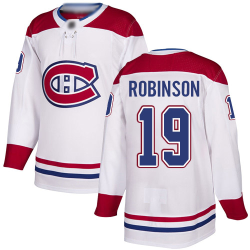 Reebok Youth Larry Robinson Authentic White Away Jersey: NHL #19 Montreal Canadiens