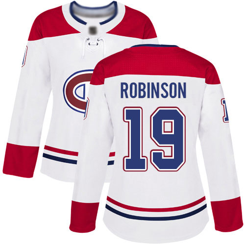 Reebok Women's Larry Robinson Authentic White Away Jersey: NHL #19 Montreal Canadiens