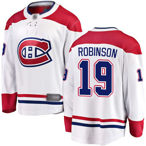 Fanatics Branded Men's Larry Robinson Breakaway White Away Jersey: NHL #19 Montreal Canadiens