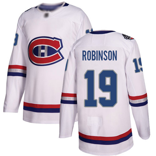 Adidas Youth Larry Robinson Authentic White Jersey: NHL #19 Montreal Canadiens 2017 100 Classic