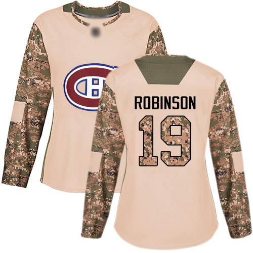 Adidas Women's Larry Robinson Authentic Camo Jersey: NHL #19 Montreal Canadiens Veterans Day Practice
