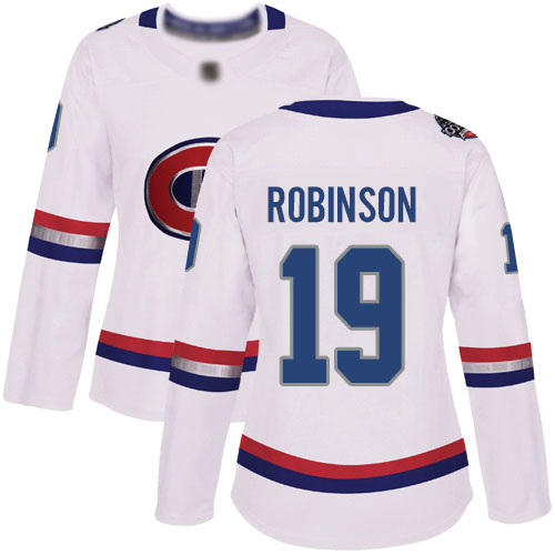 Adidas Women's Larry Robinson Authentic White Jersey: NHL #19 Montreal Canadiens 2017 100 Classic