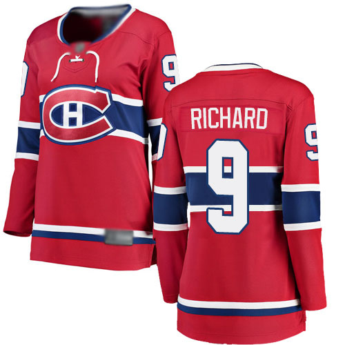 Fanatics Branded Women's Maurice Richard Breakaway Red Home Jersey: Hockey #9 Montreal Canadiens