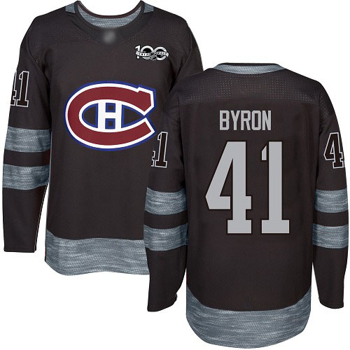 Adidas Men's Paul Byron Authentic Black Jersey: NHL #41 Montreal Canadiens 1917-2017 100th Anniversary