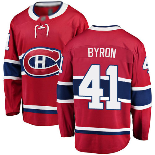 Fanatics Branded Men's Paul Byron Breakaway Red Home Jersey: NHL #41 Montreal Canadiens