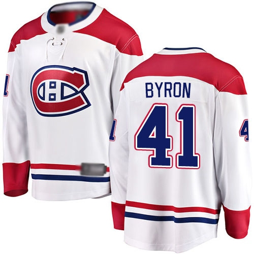 Fanatics Branded Youth Paul Byron Breakaway White Away Jersey: NHL #41 Montreal Canadiens