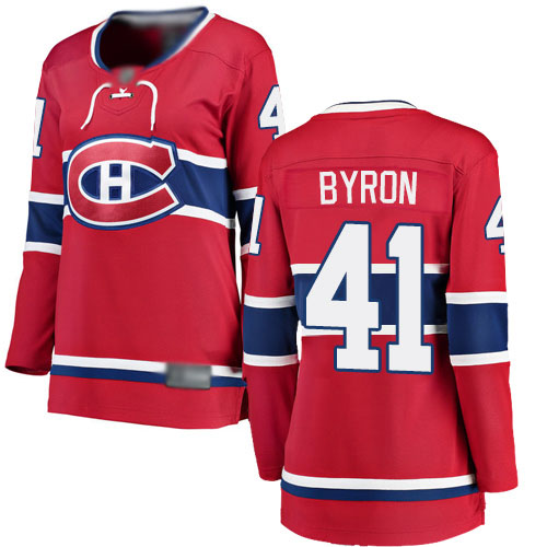 Fanatics Branded Women's Paul Byron Breakaway Red Home Jersey: NHL #41 Montreal Canadiens