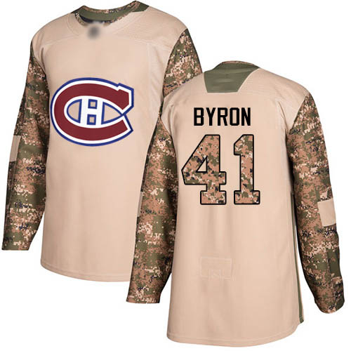 Adidas Men's Paul Byron Authentic Camo Jersey: NHL #41 Montreal Canadiens Veterans Day Practice