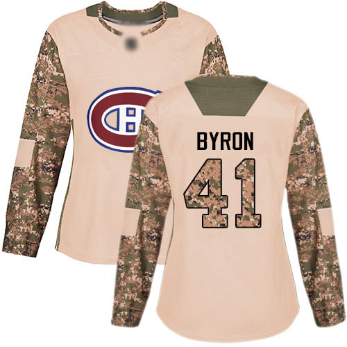 Adidas Women's Paul Byron Authentic Camo Jersey: NHL #41 Montreal Canadiens Veterans Day Practice