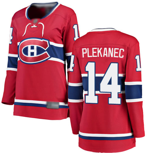Fanatics Branded Women's Tomas Plekanec Breakaway Red Home Jersey: NHL #14 Montreal Canadiens