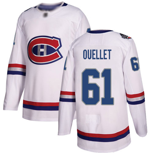 Adidas Men's Xavier Ouellet Authentic White Jersey: NHL #61 Montreal Canadiens 2017 100 Classic