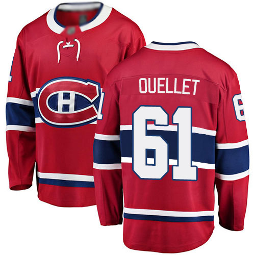 Fanatics Branded Youth Xavier Ouellet Breakaway Red Home Jersey: NHL #61 Montreal Canadiens