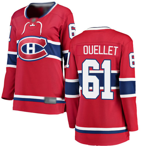 Fanatics Branded Women's Xavier Ouellet Breakaway Red Home Jersey: NHL #61 Montreal Canadiens