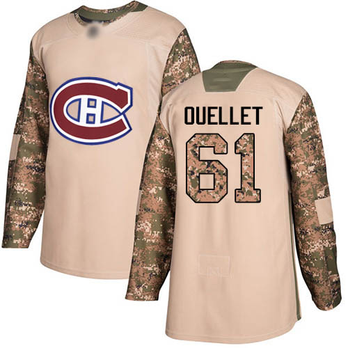 Adidas Youth Xavier Ouellet Authentic Camo Jersey: NHL #61 Montreal Canadiens Veterans Day Practice
