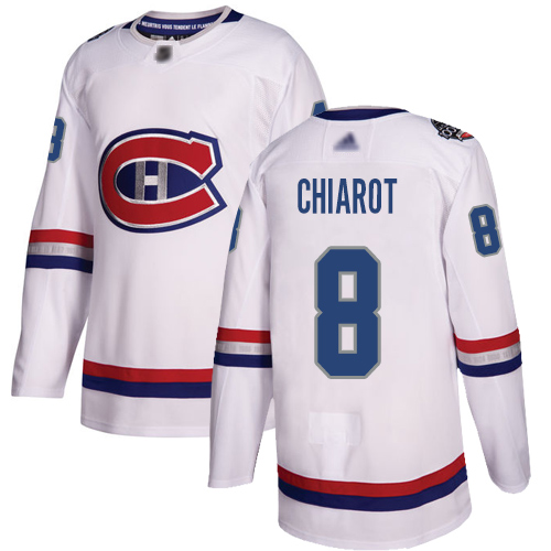 Adidas Men's Andrew Shaw Authentic White Jersey: NHL #65 Montreal Canadiens 2017 100 Classic