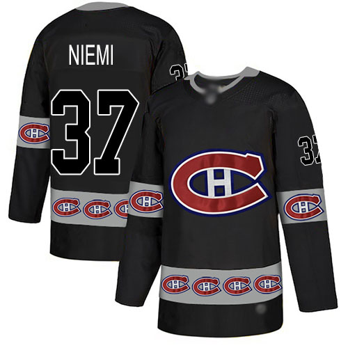 Adidas Men's Antti Niemi Authentic Black Jersey: NHL #37 Montreal Canadiens Team Logo Fashion