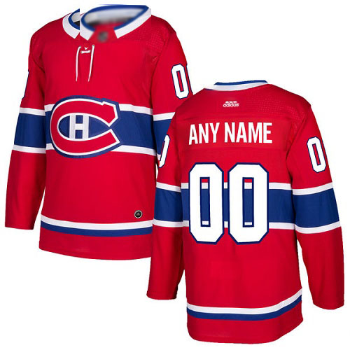 Adidas Men's Authentic Red Home Jersey: NHL Montreal Canadiens Customized