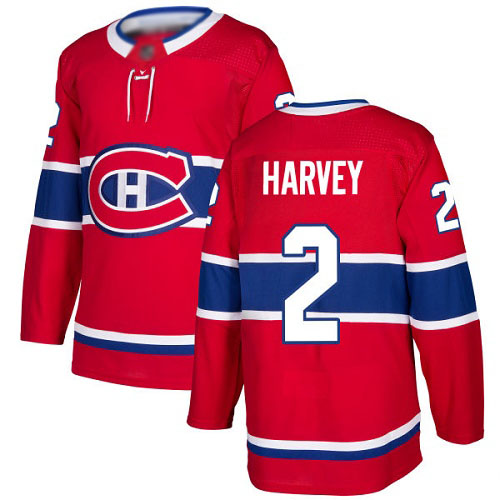 Adidas Men's Doug Harvey Authentic Red Home Jersey: NHL #2 Montreal Canadiens