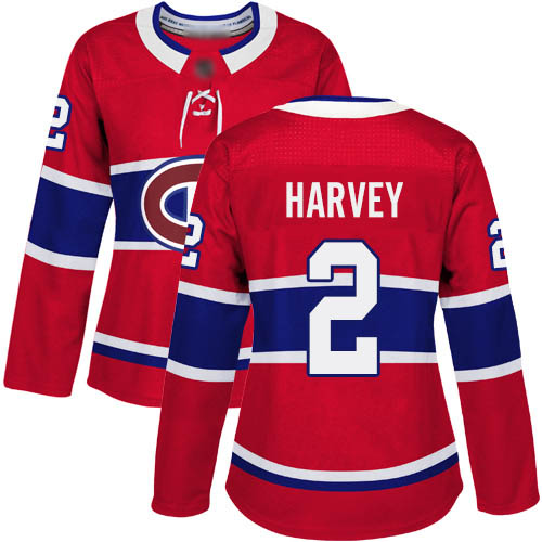 Adidas Women's Doug Harvey Authentic Red Home Jersey: NHL #2 Montreal Canadiens