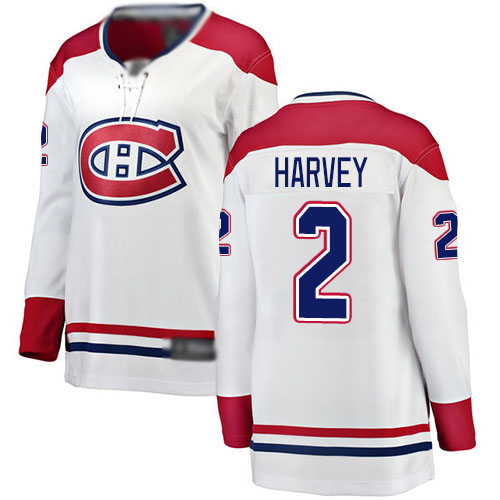 Fanatics Branded Women's Doug Harvey Breakaway White Away Jersey: NHL #2 Montreal Canadiens