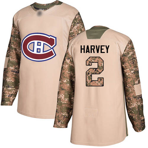 Adidas Men's Doug Harvey Authentic Camo Jersey: NHL #2 Montreal Canadiens Veterans Day Practice