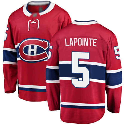Fanatics Branded Youth Guy Lapointe Breakaway Red Home Jersey: Hockey #5 Montreal Canadiens