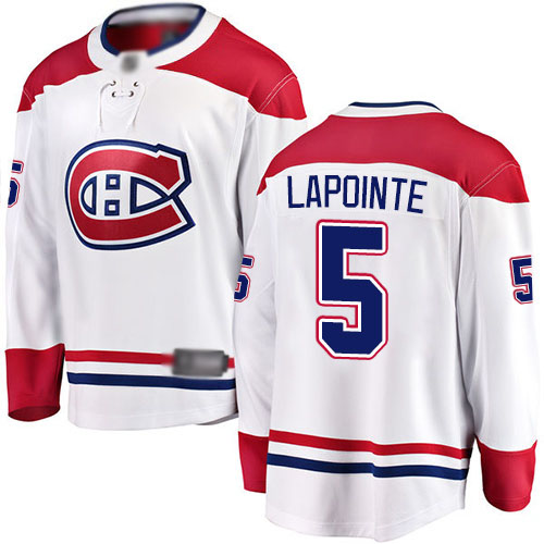 Fanatics Branded Youth Guy Lapointe Breakaway White Away Jersey: Hockey #5 Montreal Canadiens