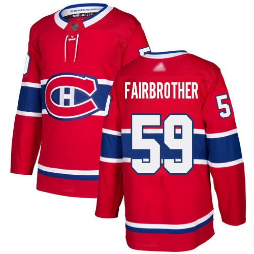 Adidas Men's Jeremiah Addison Premier Red Home Jersey: NHL #64 Montreal Canadiens
