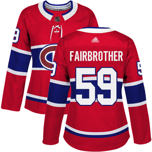 Adidas Youth Jeremiah Addison Authentic Red Home Jersey: NHL #64 Montreal Canadiens