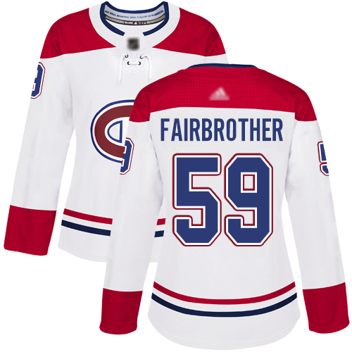 Reebok Youth Jeremiah Addison Authentic White Away Jersey: NHL #64 Montreal Canadiens