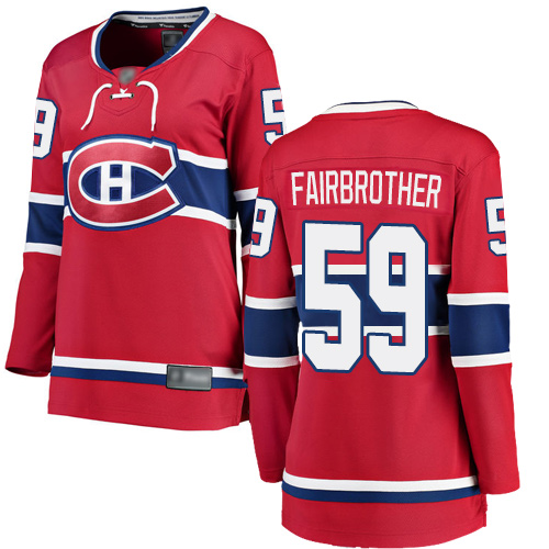 Adidas Women's Jeremiah Addison Premier Red Home Jersey: NHL #64 Montreal Canadiens