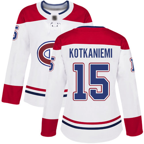 Adidas Women's Jesperi Kotkaniemi Authentic White Away Jersey: NHL #15 Montreal Canadiens