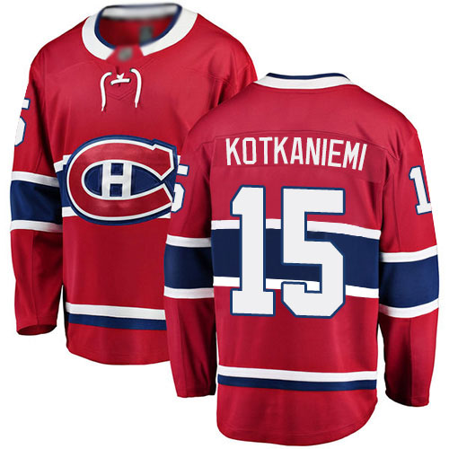 Fanatics Branded Men's Jesperi Kotkaniemi Breakaway Red Home Jersey: NHL #15 Montreal Canadiens