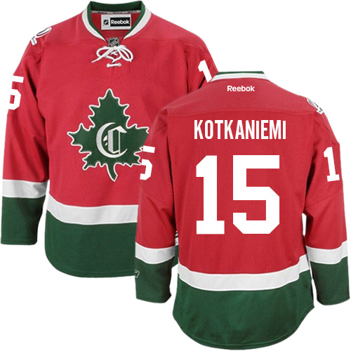 Reebok Youth Jesperi Kotkaniemi Authentic Red Third Jersey: NHL #15 Montreal Canadiens New CD