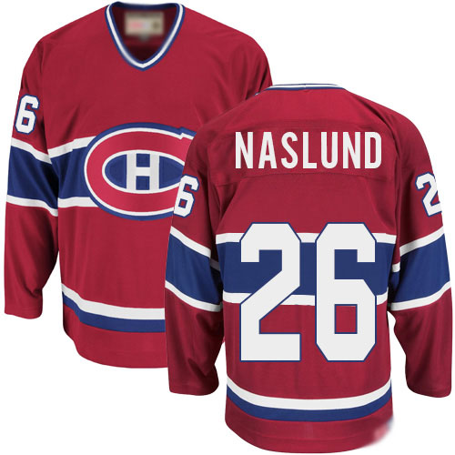 CCM Men's Mats Naslund Authentic Red Jersey: NHL #26 Montreal Canadiens Throwback