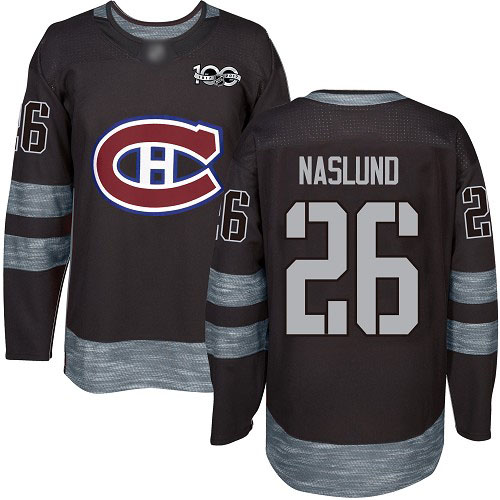 Adidas Men's Mats Naslund Authentic Black Jersey: NHL #26 Montreal Canadiens 1917-2017 100th Anniversary