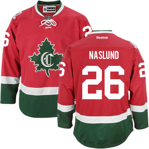 Reebok Men's Mats Naslund Authentic Red Third Jersey: NHL #26 Montreal Canadiens New CD